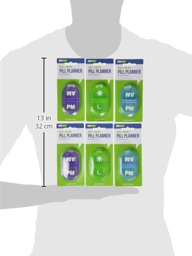 Daily AM-PM Pill Planner (Pack of 6) 3